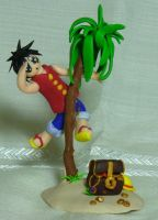 Monkey D. Ruffy Clay....thingy by Indy-chan