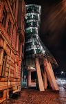 The Dancing House at Night 02 by Creative--Dragon