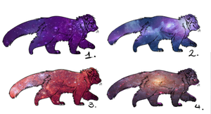 Galazy themed Red Panda Adopts / Open by nightstrikers