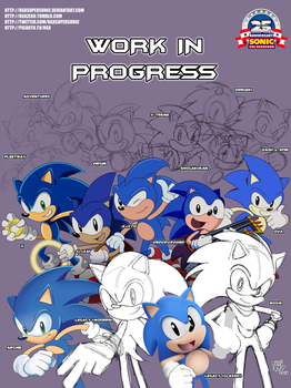 Sonic 25th - SONIC THE HEDGEHOG FOREVER! W.I.P. by RGXSuperSonic