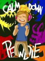 CALM DOWN PEWDIE by Imosno