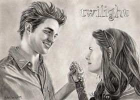 Edward and Bella by trickyvicky1978