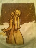 WIP 2 - Zeldaish Cross Stich by Akeelahh