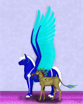 Size Comparison Between Aye-dee-kay and Silvermane by CherokeeGal1975
