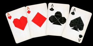 Origami Four Aces by enricap