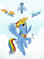 Triumph of Rainbow Dash by SunsetSovereign