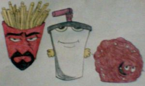 Shake, Frylock and Meatwad by MollyKetty