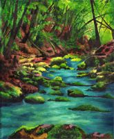 Forest stream by Lelixiana