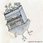 another drawing-flying house by ruangimajiner