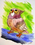 Owl Under Shining Stars by NienorGreenfield