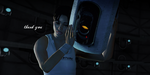Chell and GLaDOS Wallpaper by Nightfable