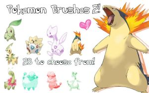 Pokemon Brushes 2 by Jozabee