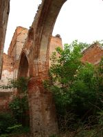 medieval church ruins by Finsternis-stock