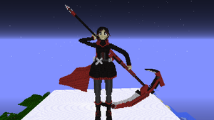 RWBY Ruby in Minecraft by 8bloodpetals