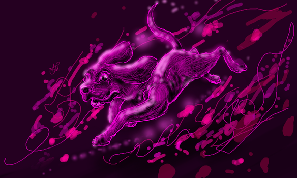 Purple Bloodhound by Deepluver2