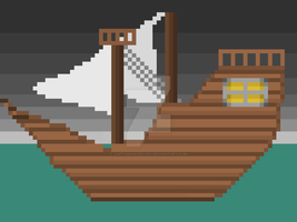 Pixel Boat by CaptainHaddock4
