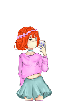 Red-hair OC by Bycreat