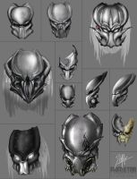 11 Predators Mask concept by CorruptionSolid