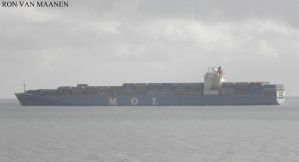 Chinese container ship MOL Endeavour 2003- Schelde by roodbaard1958