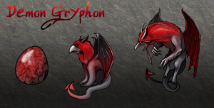 Squiby - Demon Gryphon by Chimajra