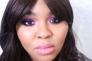 New Years Eve Purple Smokey Eye Makeup by NaturallyErratic