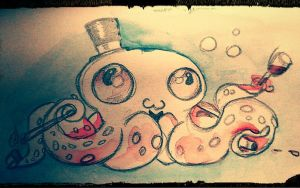 Watercolor Octopus by SHAKALone