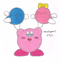 Kirby with Lololo and Lalala by MarioSimpson1