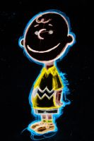 charlie brown neon by AlanSchell