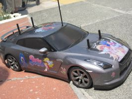 Panty and Stocking Nissan GT-R 10 by DenWingZero