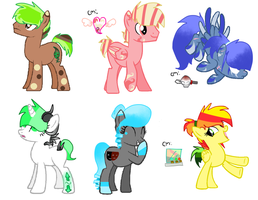 Pony Egg Adoptables: HATCHED by Blossomdash