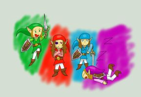 The four swords by HoneyShuckle