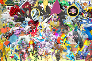 All Legendary Pokemons in 3D Wallpaper