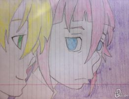 Chrona + Maka Sketch by AzuGirl89