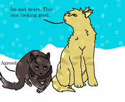 Talk of ice and bears by HoneyfallBreezeclan