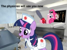 Twilight Sparkle and Pinkie Pie Doctors Office by Paris7500