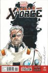 Cable and X-Force Blank Sketch Cover by GuanlinChen