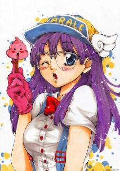 here comes Arale!!!! by Fishdoll