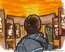 Hunger Games Marker Drawing by nighte-studios