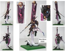 Slaanesh Chaos Lord mount by Mortdres