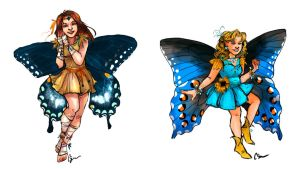 Faerie Sisters by thecapturedspy