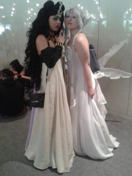 ~Nehelinia and Queen Serenity~ by broken-Dark-Angel