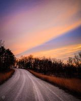 Gravel Road Eve by FabulaPhoto