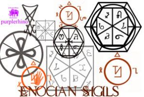 Enochian Sigils by purplerhino