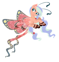 Art Trade: Azure Wings by FuyusFox