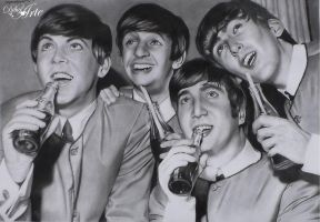 The Beatles by AngelMendozaDibujArt