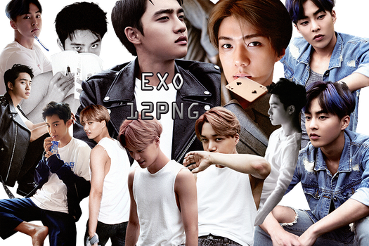 EXO PNG Pack {Dear Happiness Part. 4} by kamjong-kai