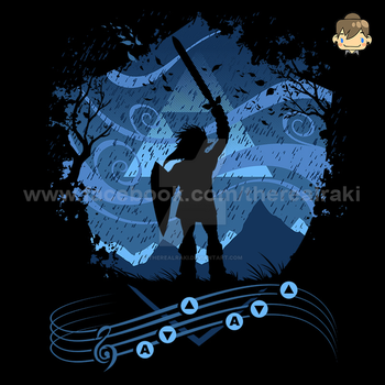 Song Of Storms Tshirt Design by TheRealRaki