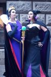Evil Queen and Maleficent by rocknroler
