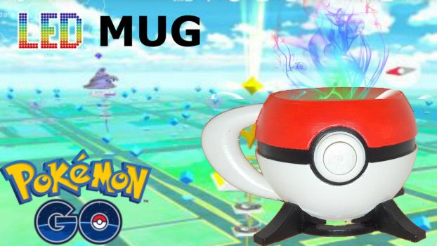 How To Make Pokeball Mug In Real Life Led Flash 3d by suslovm