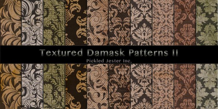 Textured Damask Patterns 2 by Pickled-Jester-Inc